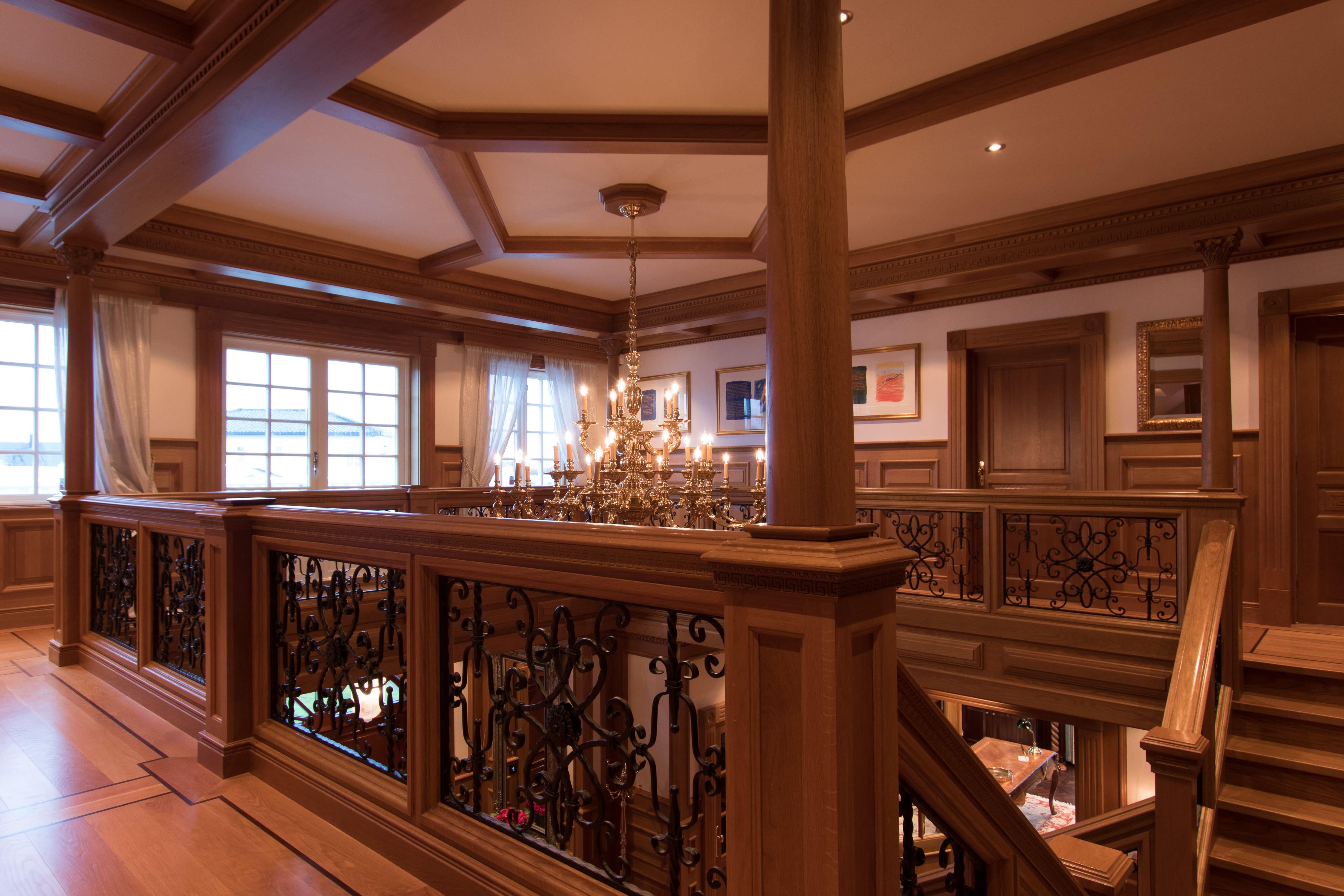 Second floor with master bedroom, bedrooms and bathrooms.