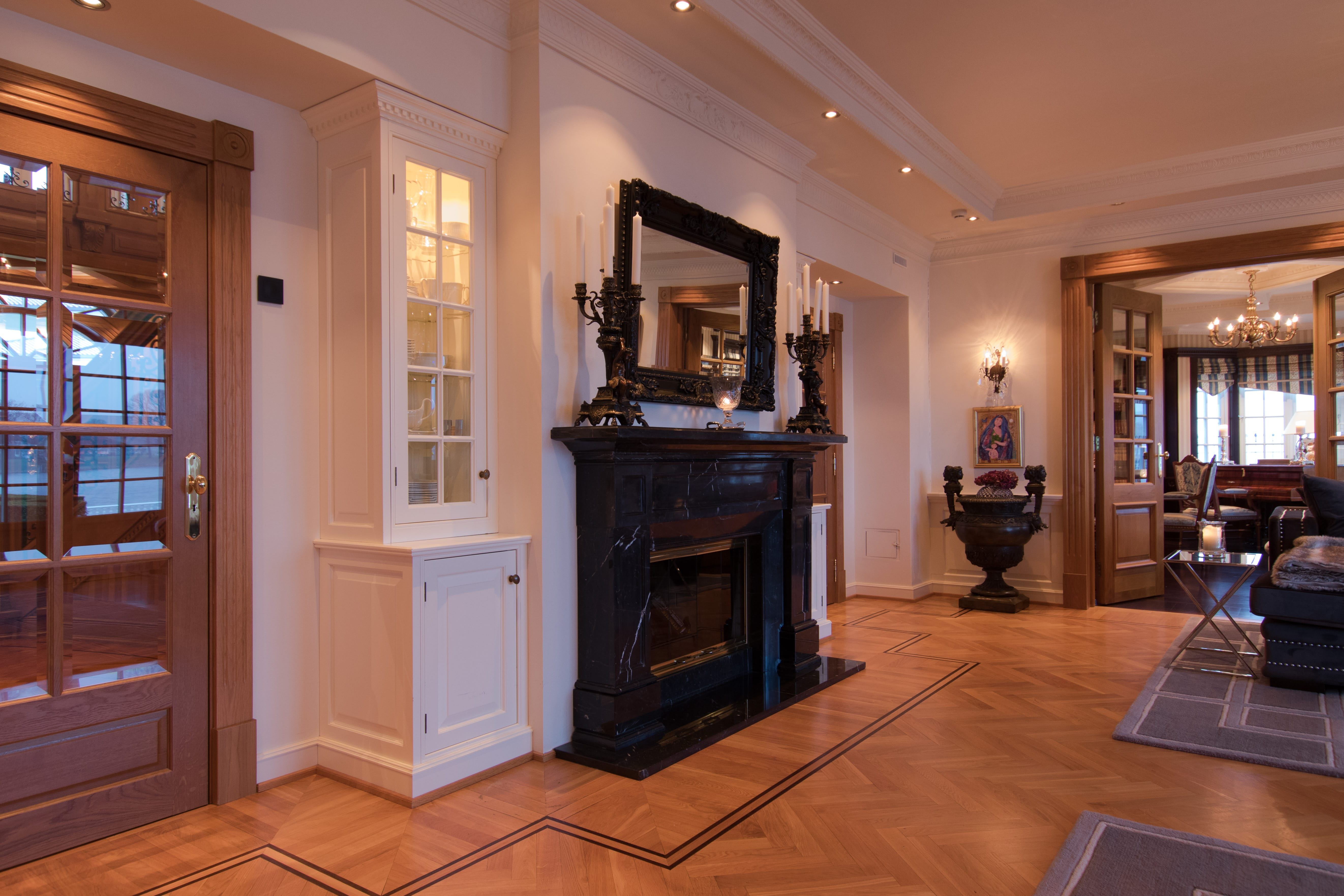 Beautiful flooring, downlights and room for life.