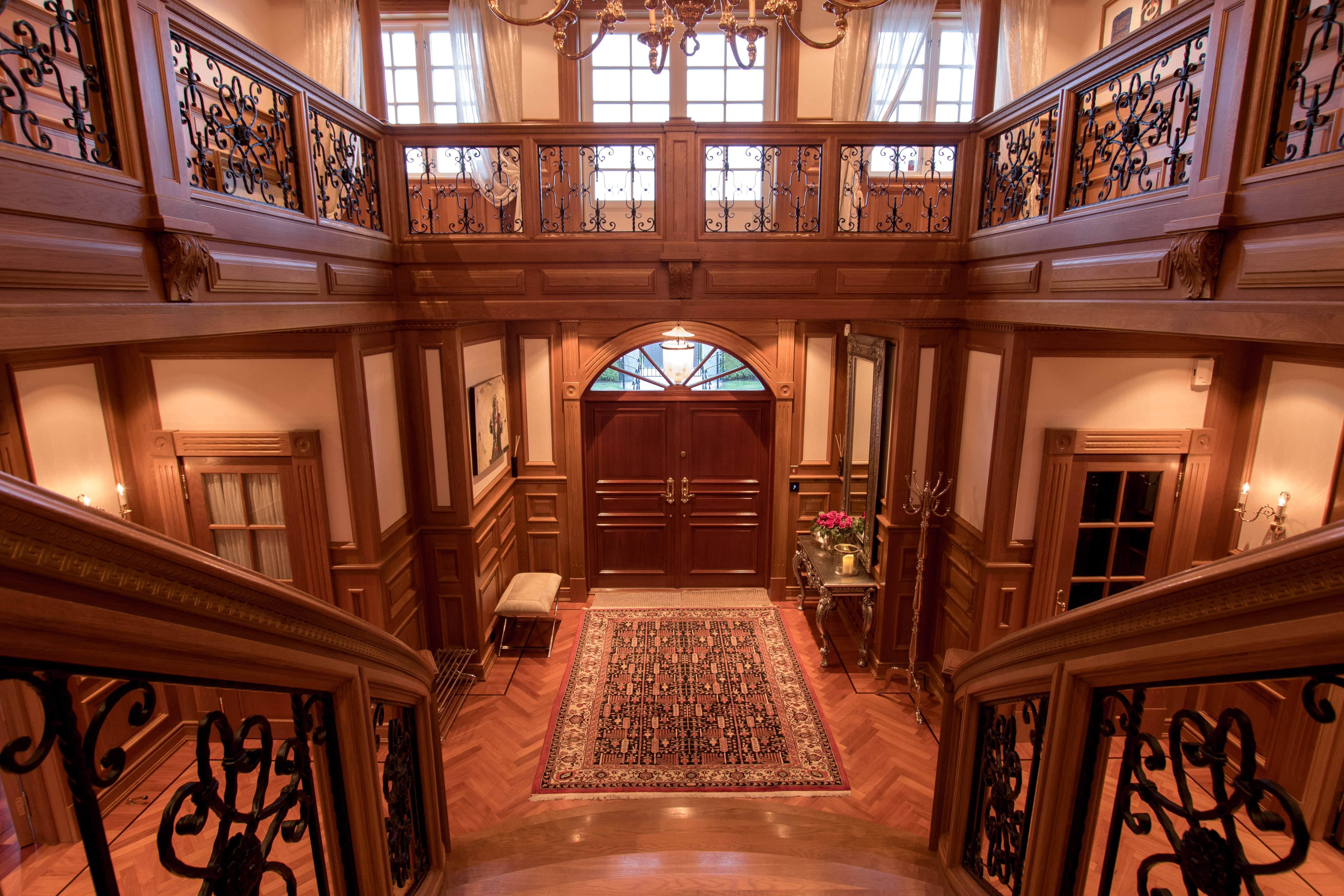 Step inside the main door and behold the sight of a one of a kind mansion.