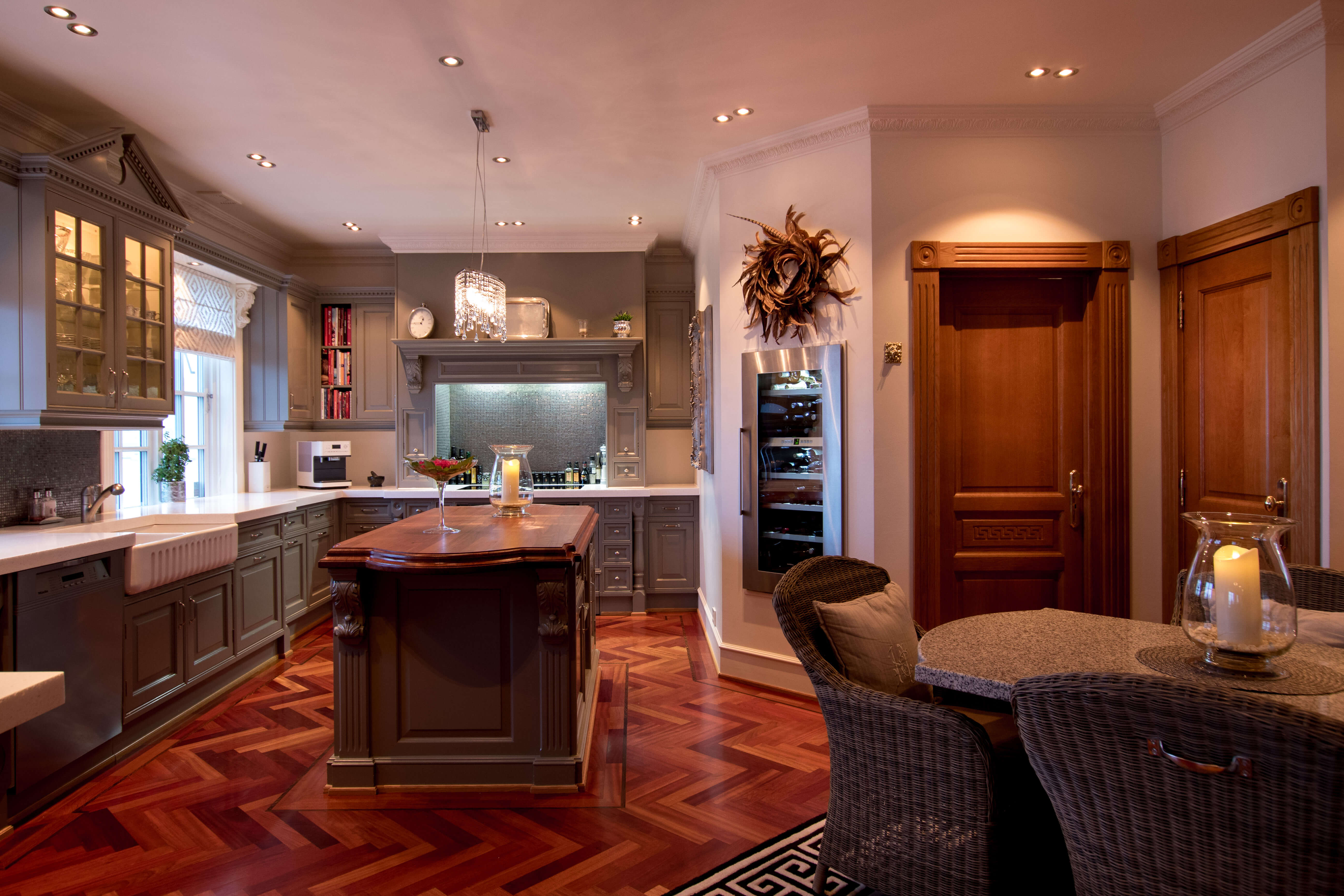 Functional and inviting kitchen.
