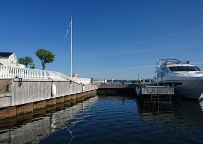 Space for 80 foot yacht longside.