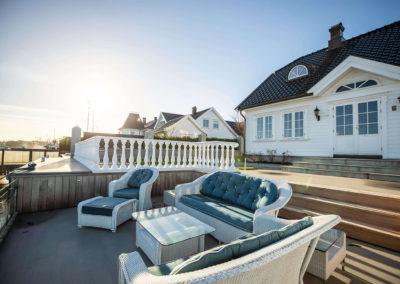 Sun lounge outside house nr. 2.