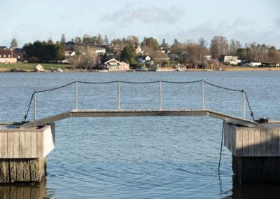 Bridge over untroubled waters.