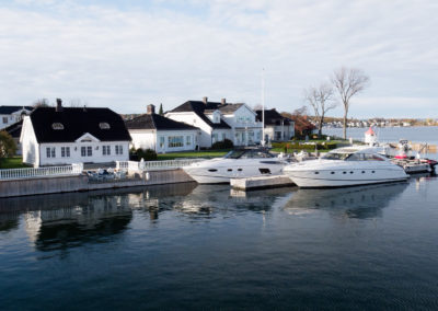 Sea front property with private beach and marina.