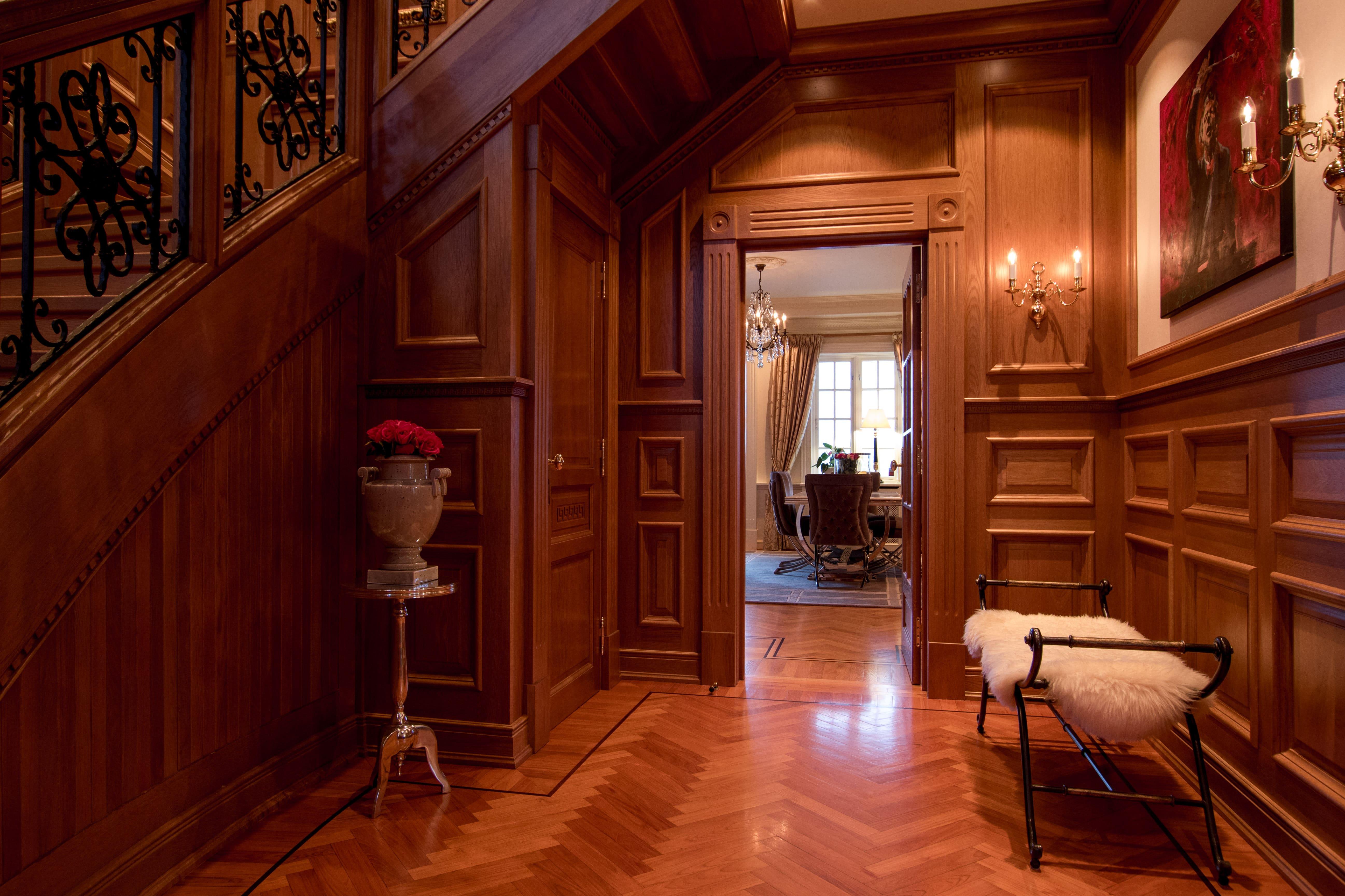 Spacious hallway.